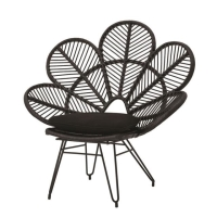 Rental store for BANANA LEAF CHAIR W  CUSHION, BLACK in Orange County CA