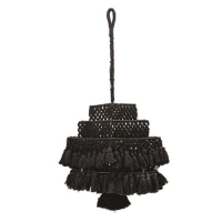 Rental store for BLACK FRINGE CHANDELIER in Orange County CA