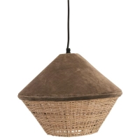 Rental store for VELVET RATTAN PENDANT LAMP, GREY in Orange County CA