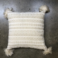 Rental store for PILLOW, IVORY   GOLD DESIGN W  TASSELS in Orange County CA