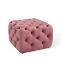 Rental store for NALA TUFTED SQ OTTOMAN, ROSE, SMALL in Orange County CA