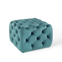 Rental store for NALA TUFTED SQ OTTOMAN, SEAFOAM, SMALL in Orange County CA