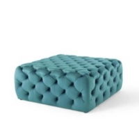 Rental store for NALA TUFTED SQ OTTOMAN, SEAFOAM, LARGE in Orange County CA