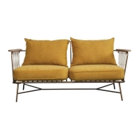 Rental store for LILY METAL   ROPE LOVESEAT, MARIGOLD in Orange County CA