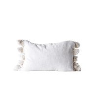 Rental store for TASSEL LUMBAR PILLOW, CREAM in Orange County CA
